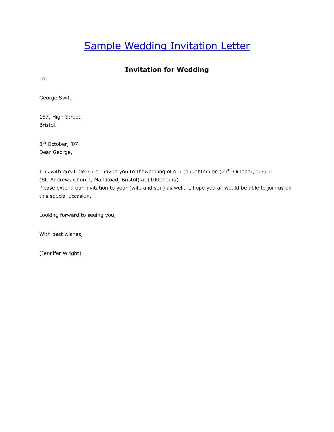 Sister wedding invitation email sample wedding invitation sample.