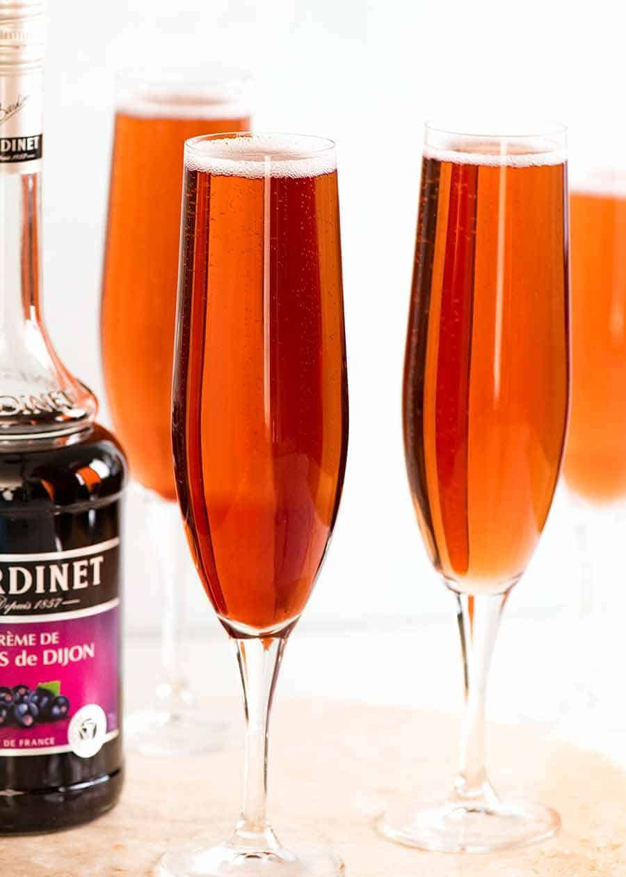 Kir Royale French Champagne Cocktail Recipe In 2020 Champagne Cocktail French Champagne Kir Royale