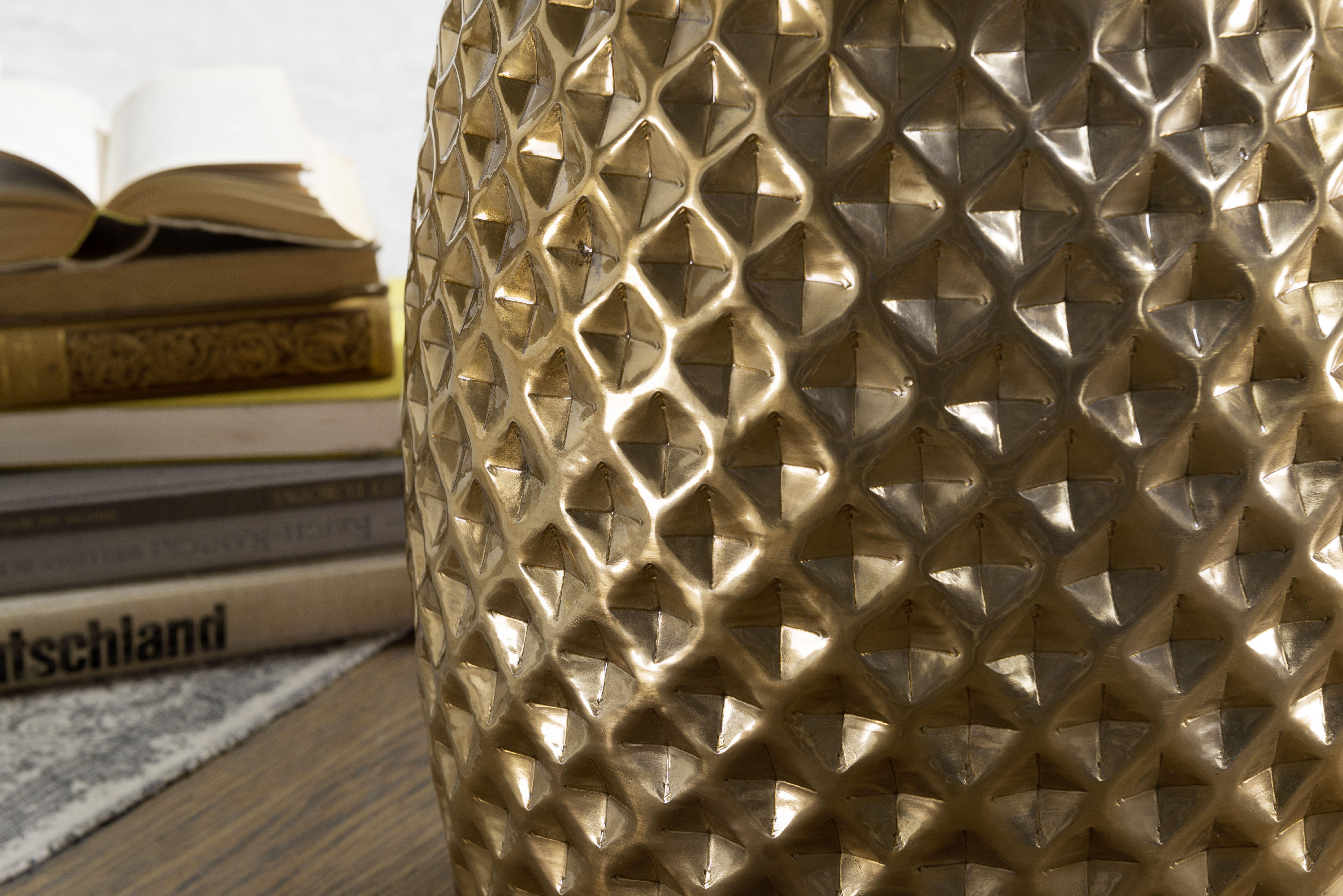 Wohnling Beistelltisch Sita Gold Wl5 450 Aus Aluminium Gold