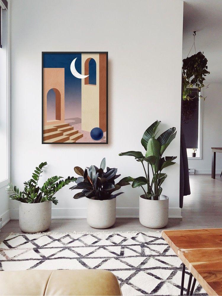 Pin On Inside Scoop #palm #tree #living #room #decor
