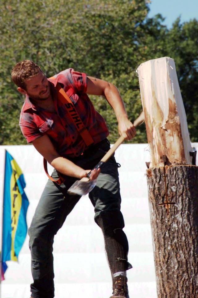 Lumberjack Axe Wood Plaid Beard Suspenders Boots