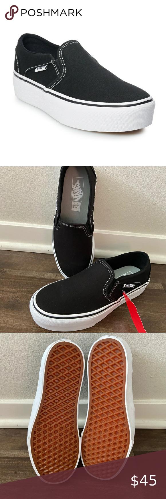 Vans Asher Womens Platform Skate Shoes