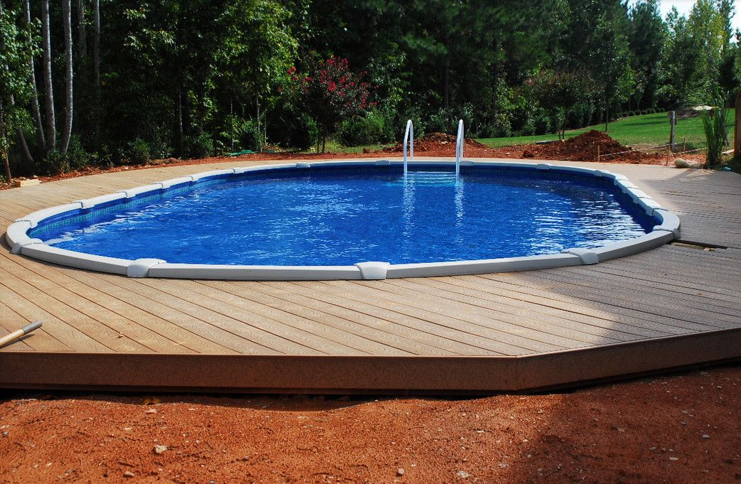 Semi Inground Pool Ideas backyard inground pool designs inground pool designs for small backyards backyard design ideas best photos 40 Uniquely Awesome Above Ground Pools With Decks