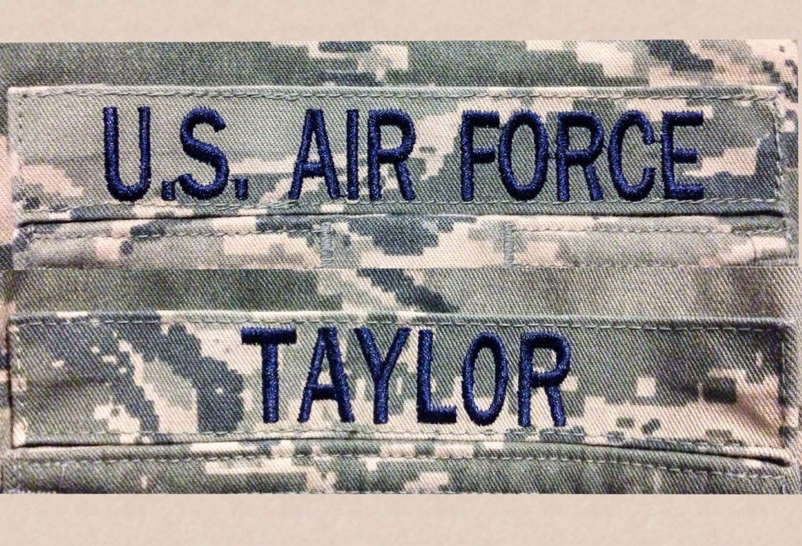 Air Force ABU Velcro name tapes (one Air Force, one Name