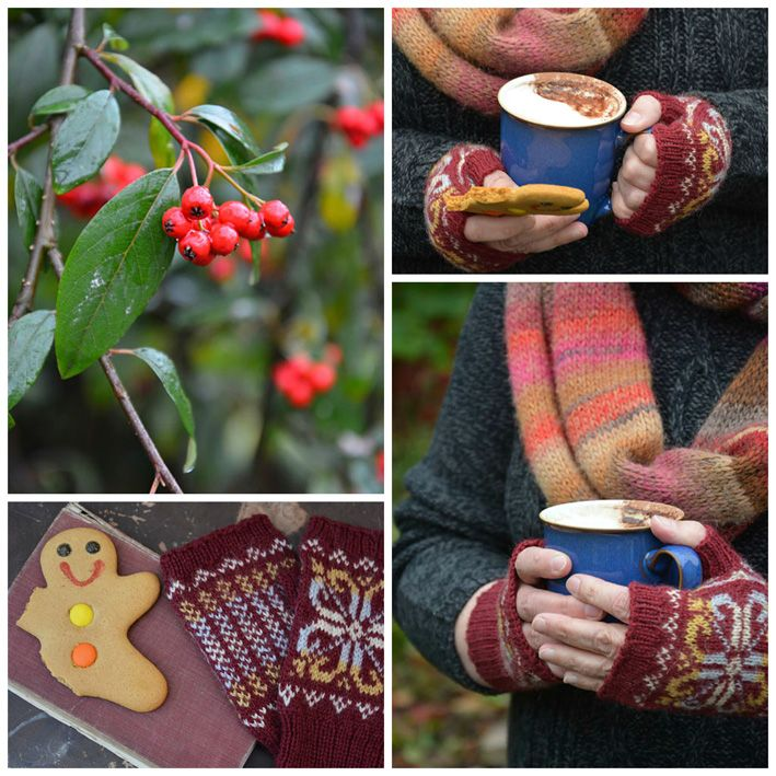 fair isle fingerless mitts - Google Search | Knitting photography ...