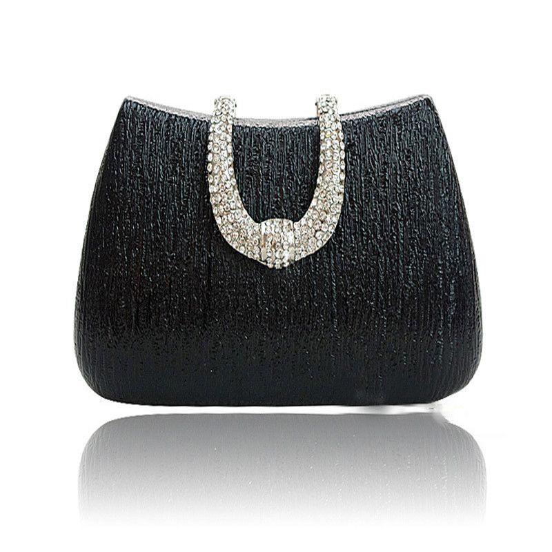 New Exquisite Beaded Crystal Evening Bag Le Elegant Clutch Bags Chain Party Wedding Shoulder Handbag