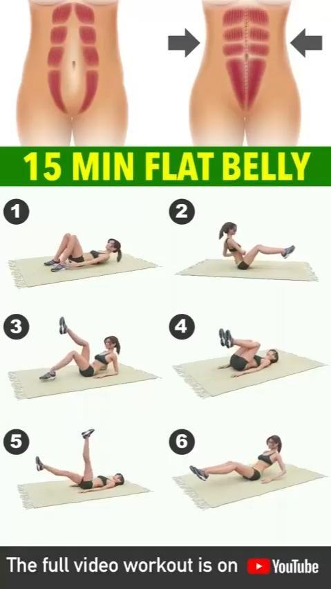 15 min falt belly challenge