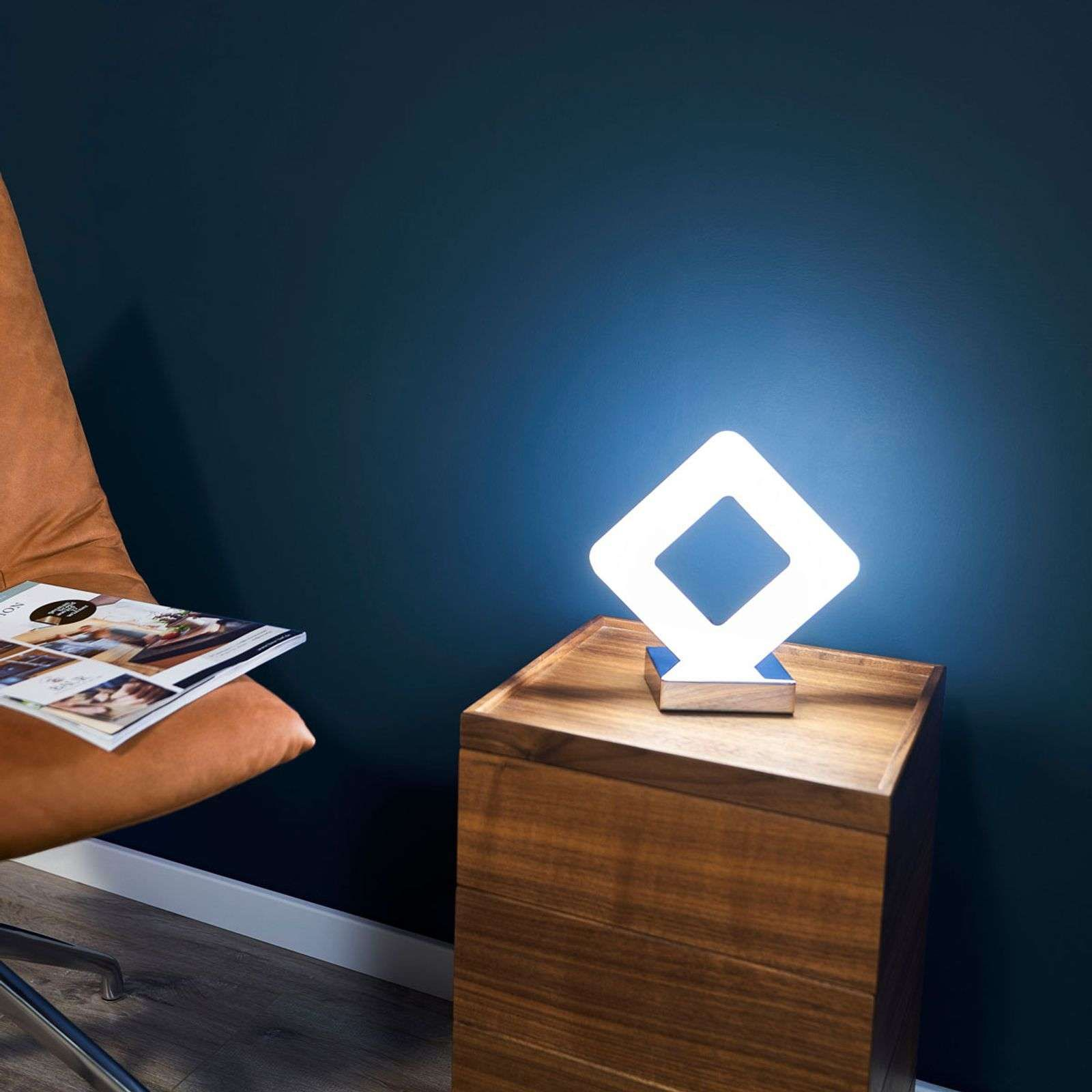 Recht Gevormde Led Tafellamp Pori Lampe A Poser Lamp Petite Lampe