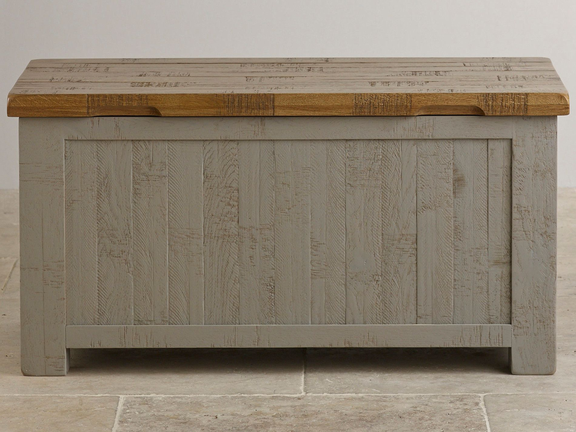 Clermont Painted Rough Sawn Solid Oak Storage Box