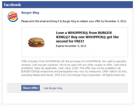 Burger King Deal! Burger king deals, Burger king, Coupon