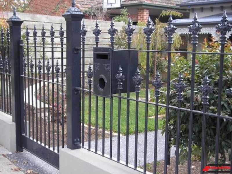 Wrought Iron Fencing Gate Mailbox Iron Fence Wrought Iron