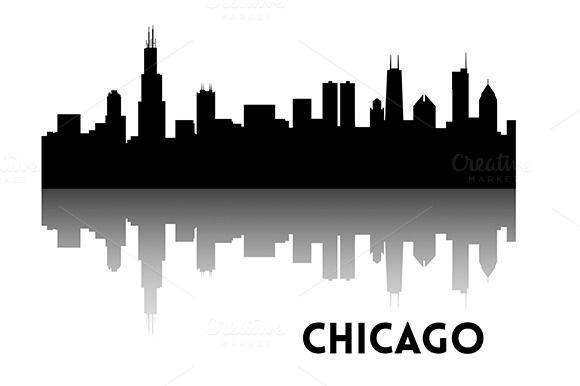 Chicago Skyline Silhouette Chicago Skyline Silhouette Skyline Silhouette Chicago Skyline Art