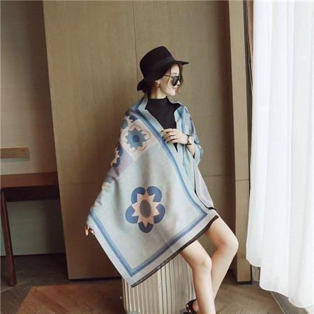 High Quality New elegant Female Winter Cashmere Scarves Warm Shawl Pattern Bee Women's Winter Scarf Luxury Brand Scarf Women
