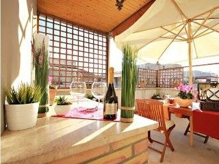 FULL of LIGHT 70sqm PENTHOUSE with TERRACE near VATICAN, Full Kitchen