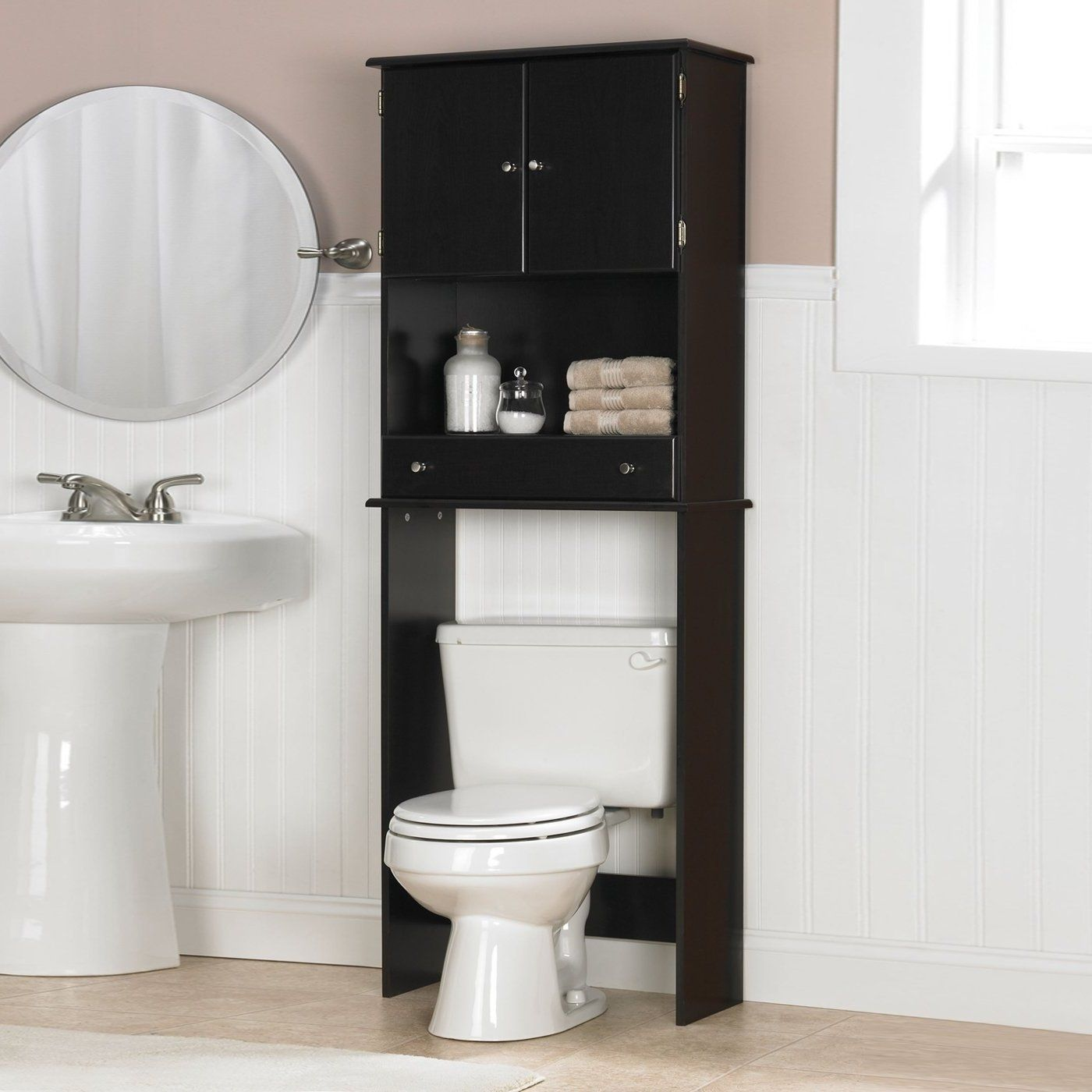 Image of: Over The Toilet Shelf Idyllic Bathroom Cabinet Above ...