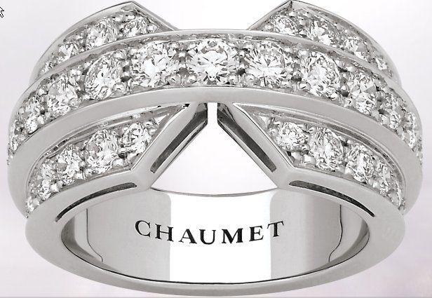 Chaumet-Josephine-web-Apr.2013,       Joséphine band ring in rhodium-plated 18-carat white gold, paved with brilliant-cut diamonds