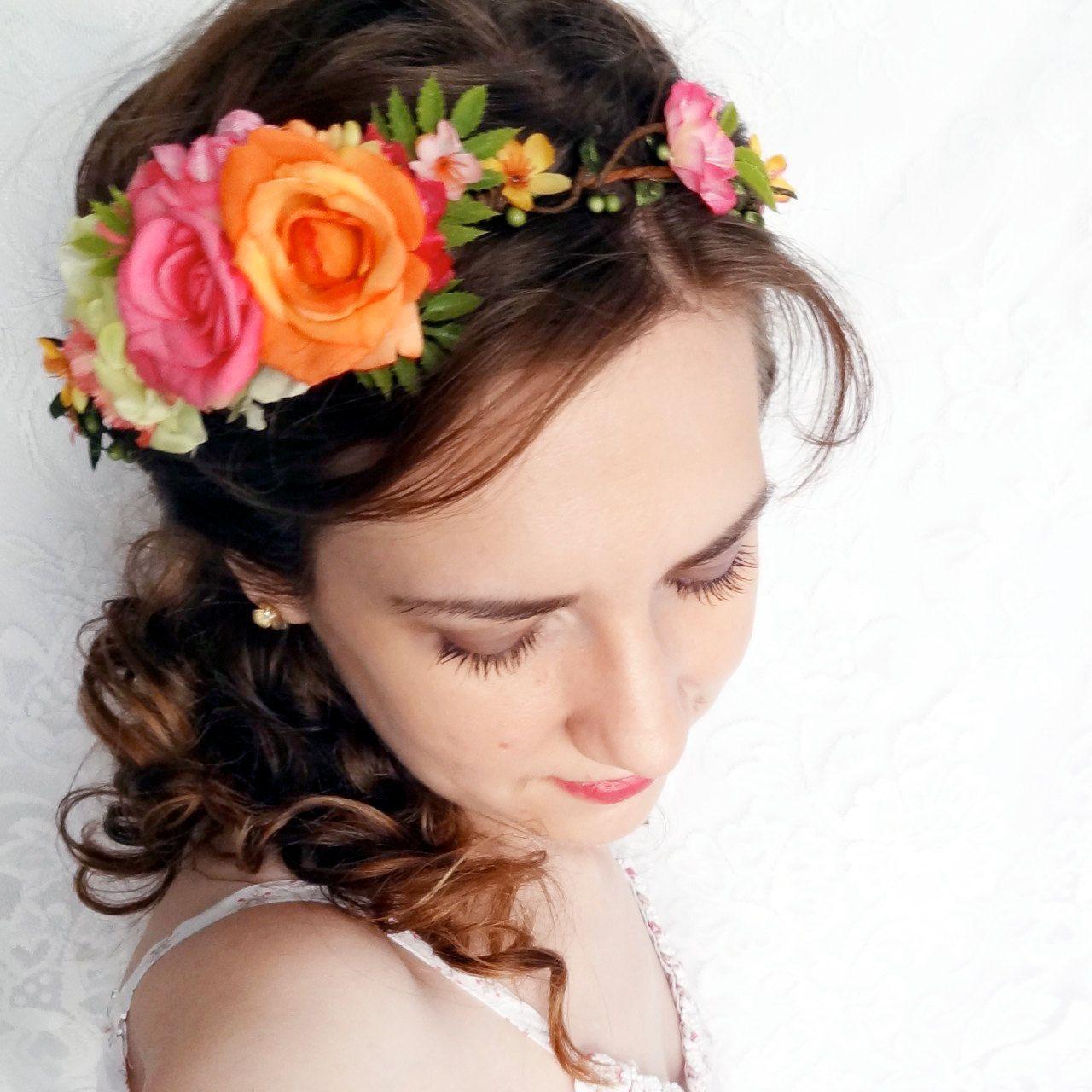 Creamy Pink Elven Flower Crown