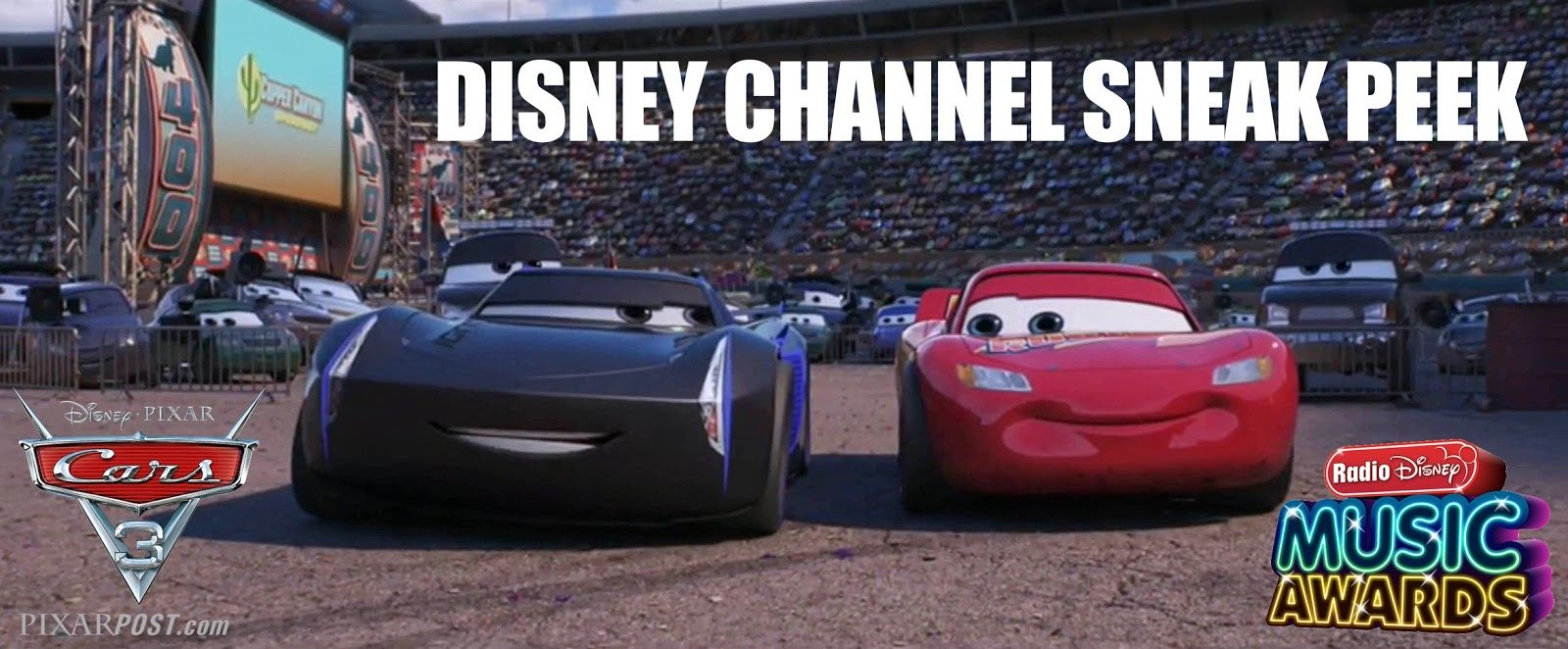 cars 3 disney channel sneak peek trailer airs during the radio