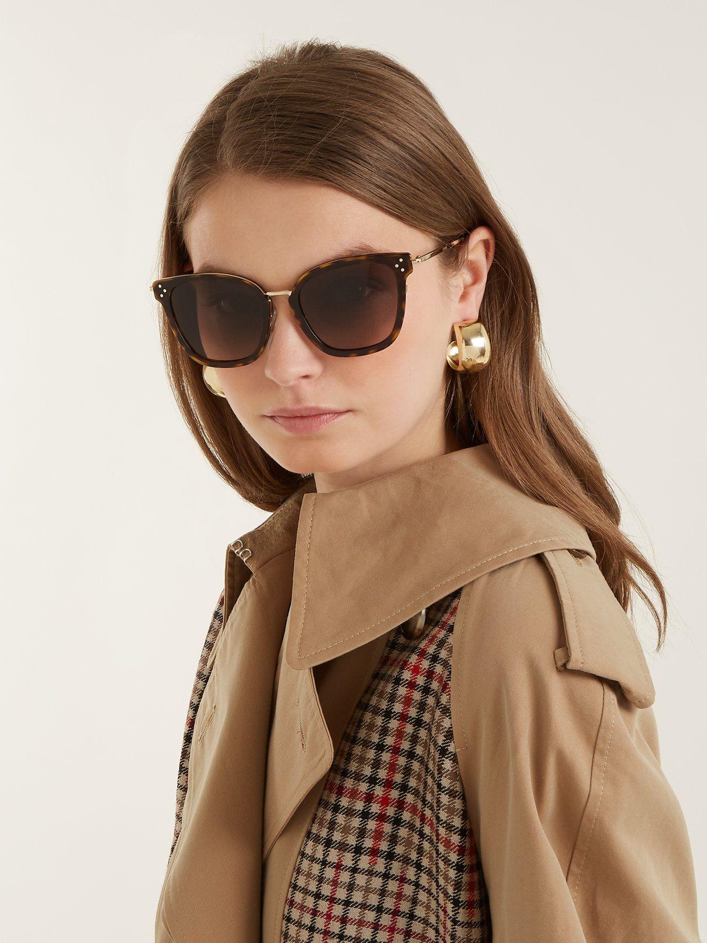 CÉLINE EYEWEAR Square-frame acetate sunglasses的圖片搜尋結果