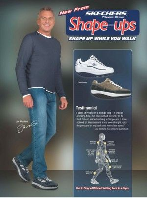 JOE MONTANA Shoe Ad PICTURES PHOTOS and