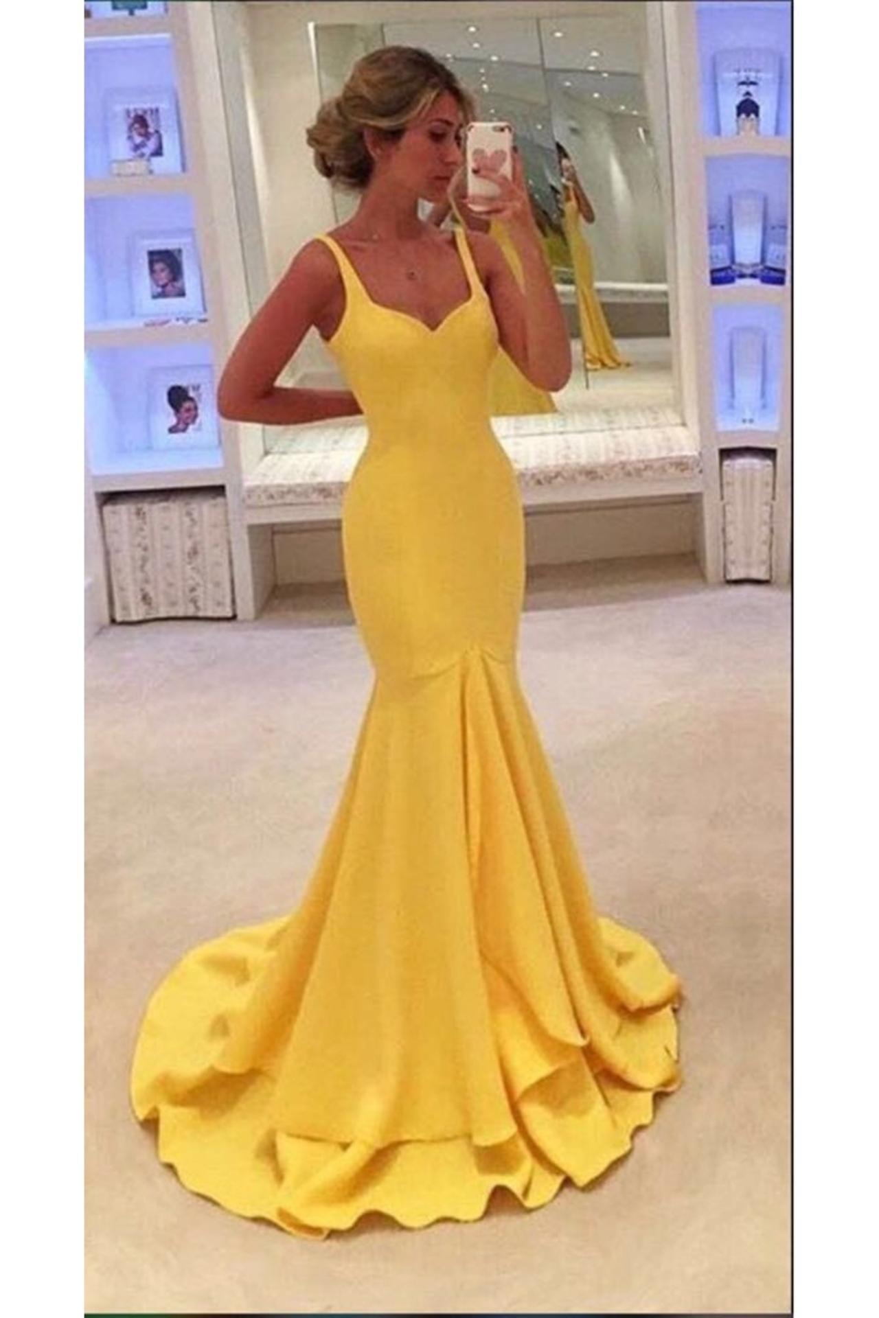 19ffa8db08a New Arrival Yellow Prom Dress