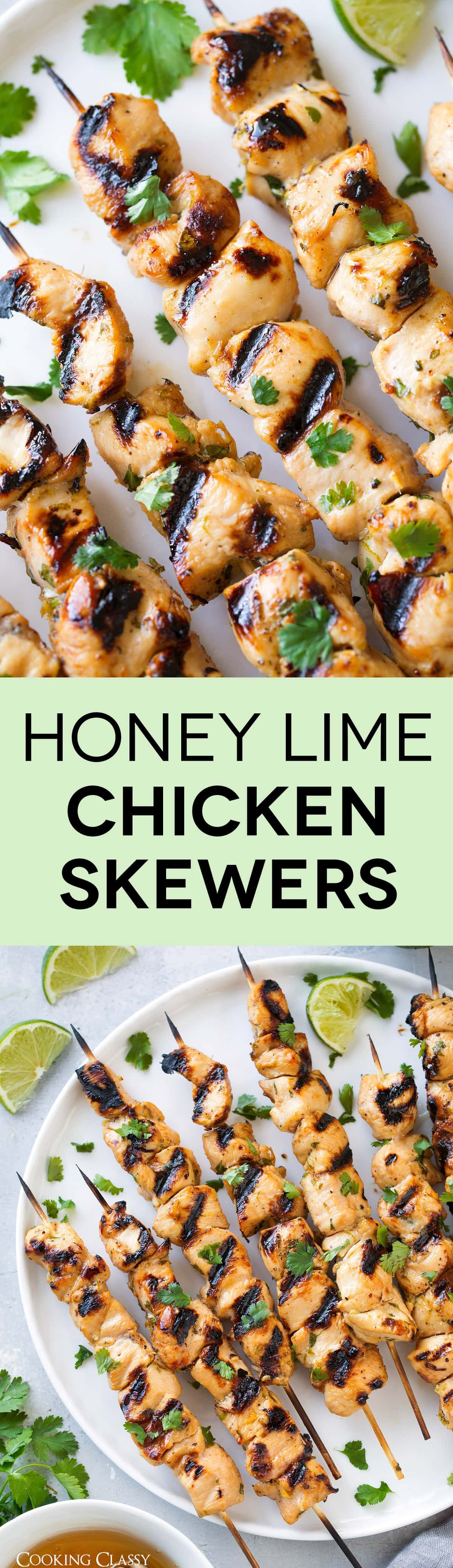 Honey Lime Chicken Skewers - Cooking Classy
