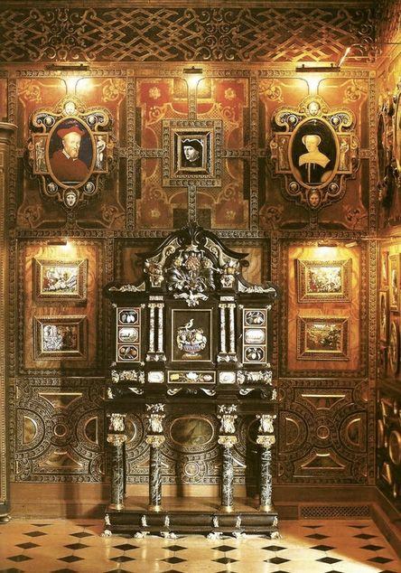 Vestibule in former Paris home, Hotel Lambert, of Baron & Baronne Guy de Rothschild