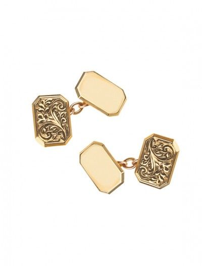9ct Gold Chain Cufflinks Available At Onyx Goldsmiths