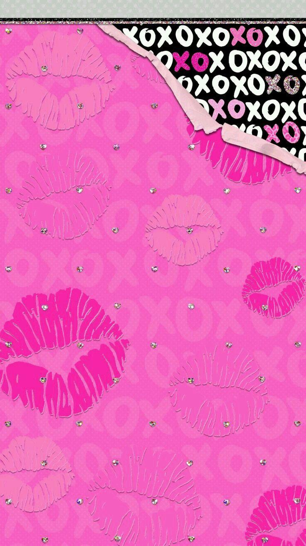 Boca Rosa Fundo Rosa Xo Wallpapers Bonitos Wallpaper Papeis De