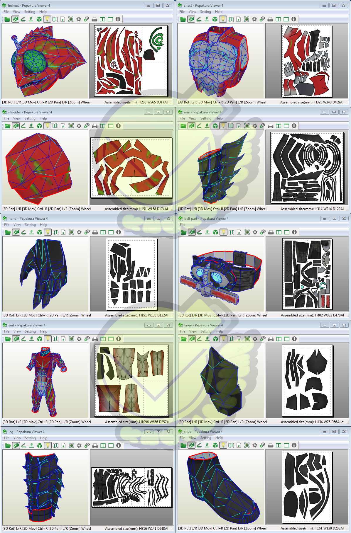 Kamen Rider Amazon Alpha Costume Template / Pattern Pepakura 3d ...