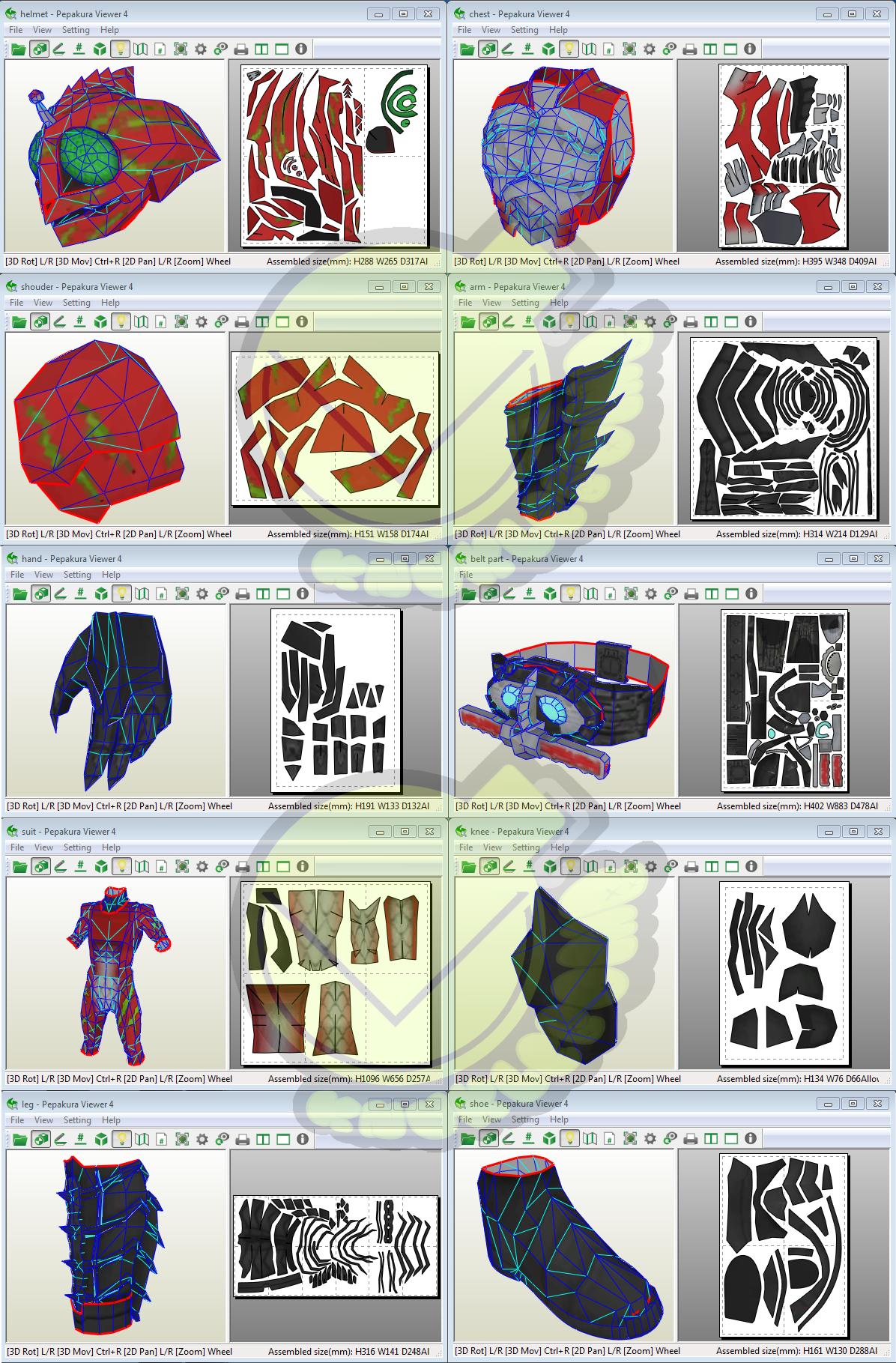 Kamen Rider Amazon Alpha Costume Template / Pattern ... - photo#12