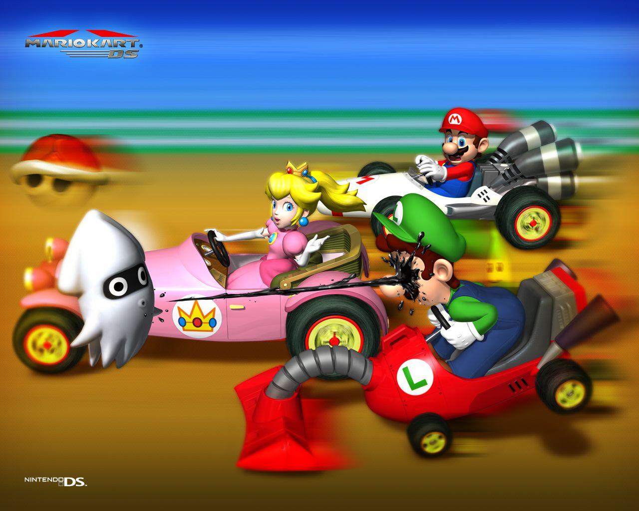 Nintendo Wallpaper Mario Kart Ds Mario Kart Mario Kart Ds Mario And Luigi