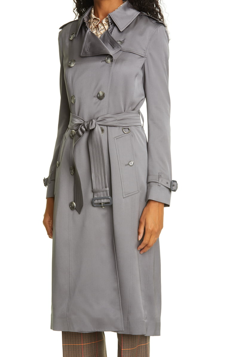 Burberry Boscastle Silk Double Breasted Trench Coat Nordstrom Trench Coat Double Breasted Trench Coat Double Breasted Trench