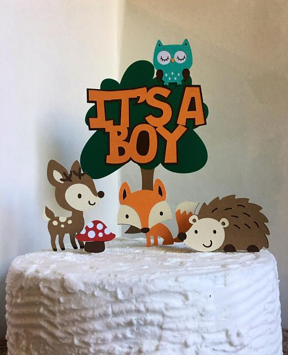 Perfect Woodland Baby Shower CakeTopper Woodland Baby Shower Cake