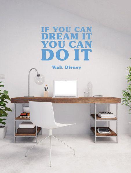 Fresh Wandtattoo Disney Zitat Dream Erfolg Motivation