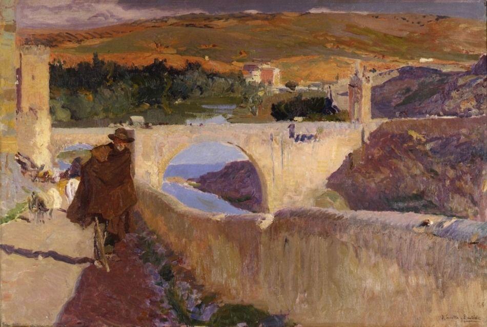Joaquin Sorolla y Bastida (Spain, 1863 - 1923) El Ciego de Toledo, 1906 Oil on canvas 24 ¼ x 36 ½ inches (61.6 x 92.71 centimeters)