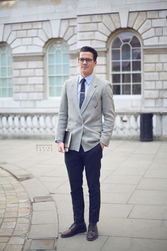 grey blazer blue pants - Google Search