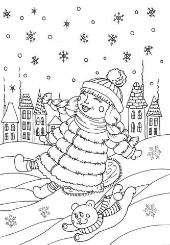 Peppy In January Coloring Page Coloring Pages Printable Coloring Pages Free Printable Coloring Pages
