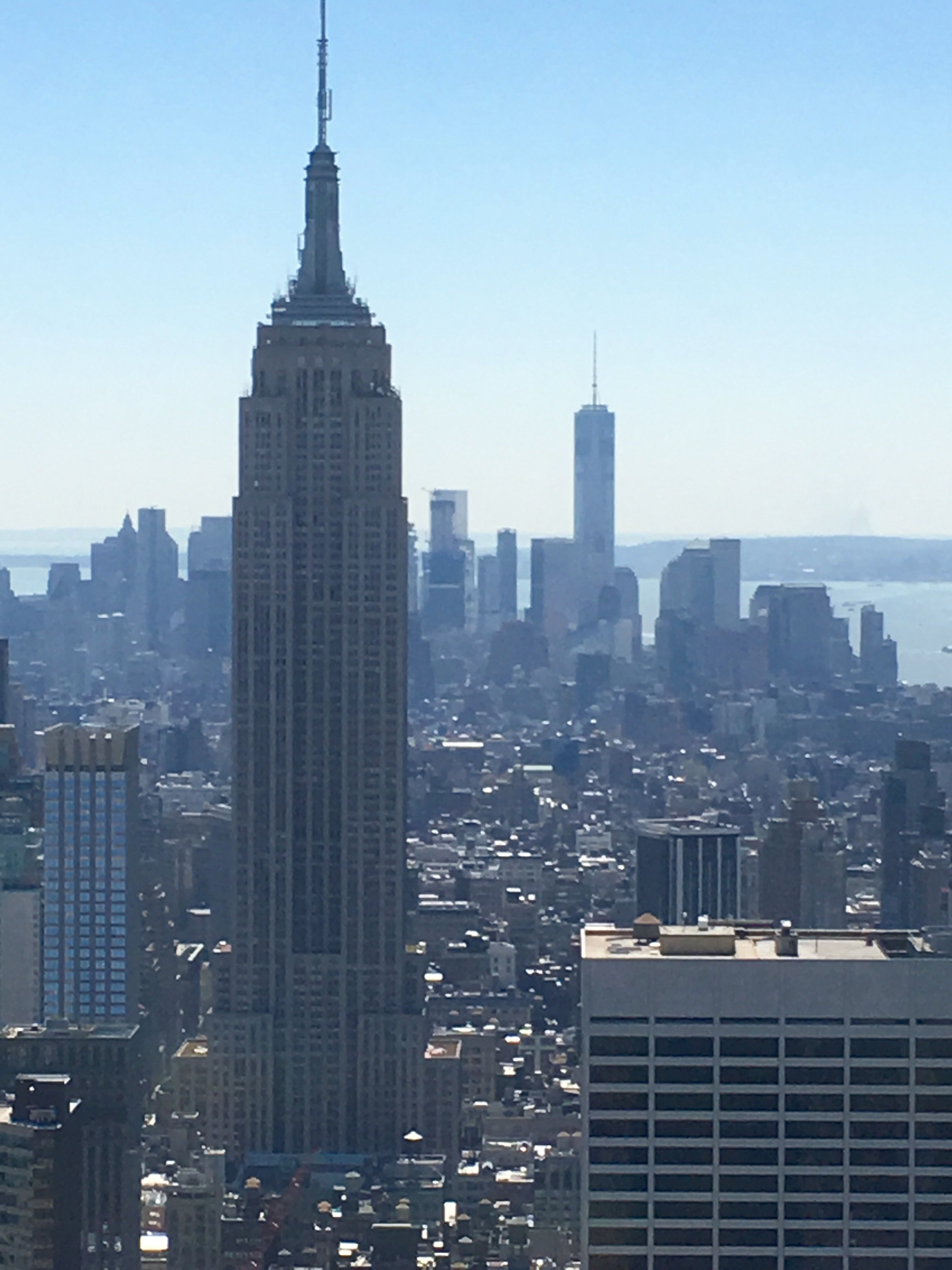 Storytelling New York City Photography Top Of The Rock Empire State Building Freedom Tower On A Clear Day Empire State Building City Photography New York
