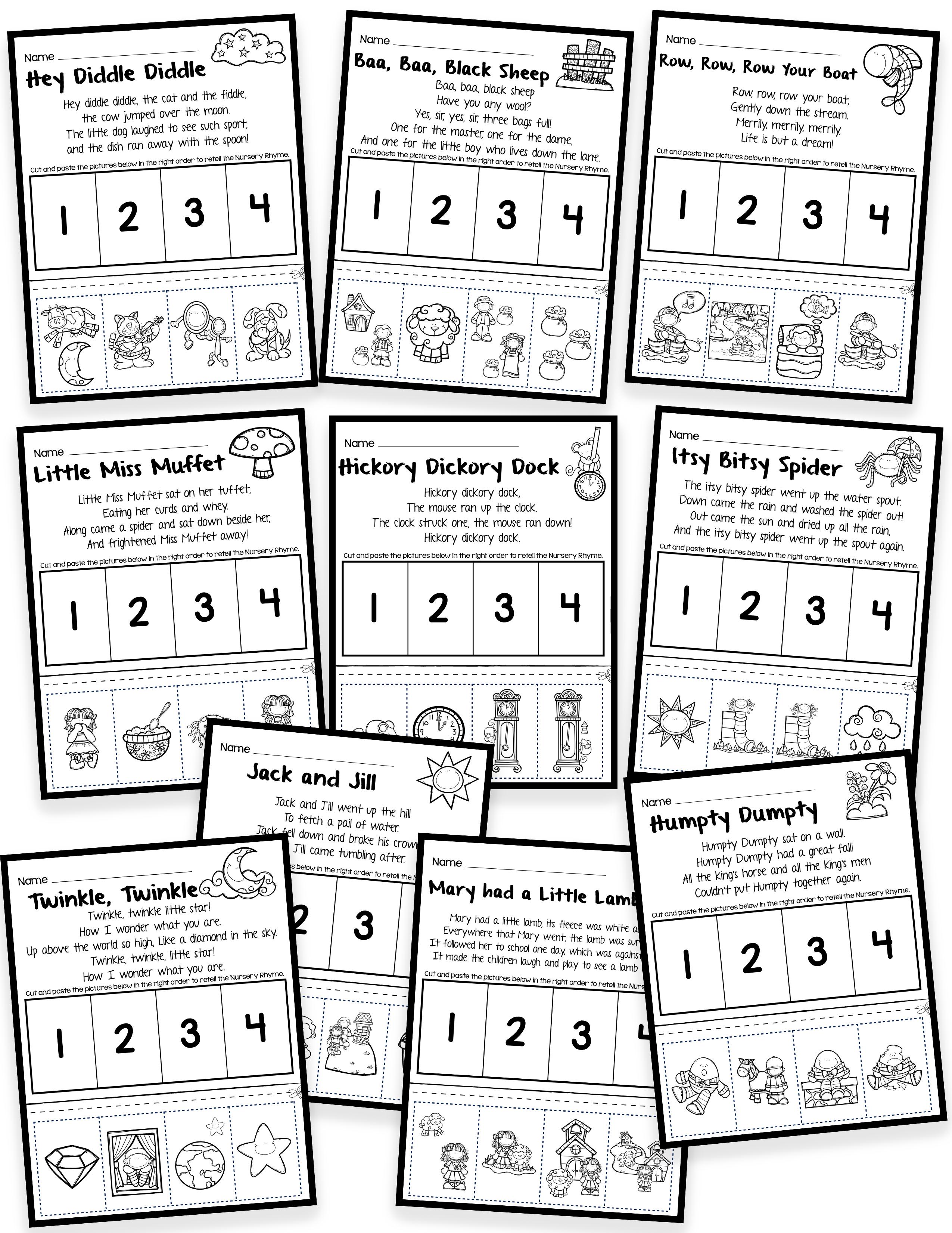 Nursery Rhymes Printables