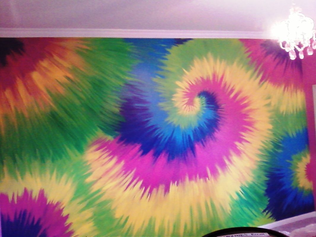 Tie Dye Wall Mural I Did Today This Was Fun Tie Dye Wall