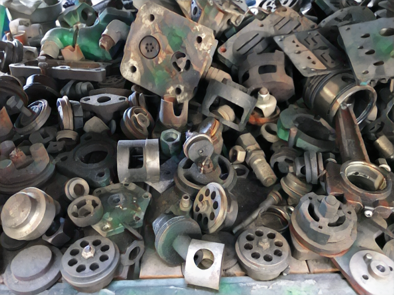 Old valves and valve plates. Air compressor service in the
