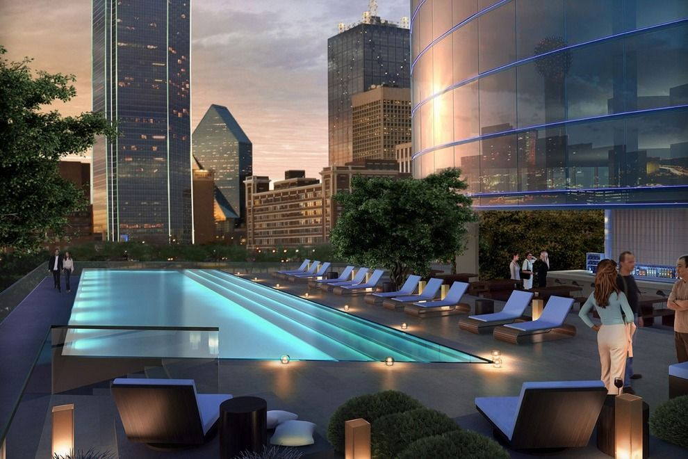 Breathtaking Views Of The Downtown Skyline Dallas Luxury Hotel Omni