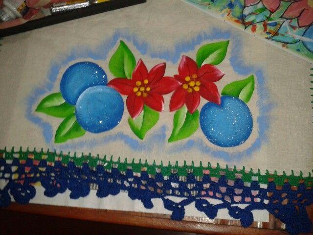 pintura en tela motivos navideños pinturas en tela y crochet