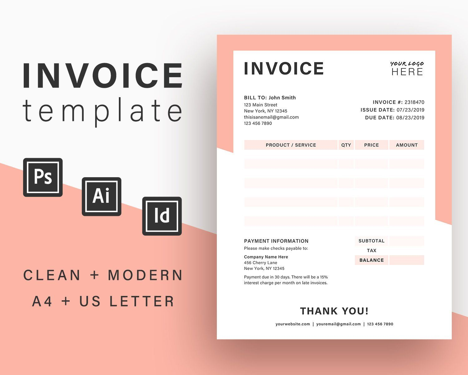 This Item Is Unavailable Etsy Photography Invoice Invoice Template Templates