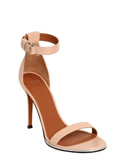 de6c35c73112 GIVENCHY - 100MM NADIA LEATHER SANDALS - LUISAVIAROMA Givenchy Heels