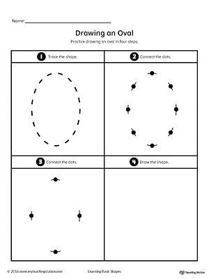 Drawing a Oval Shape | homeschool 3-4 | Pinterest