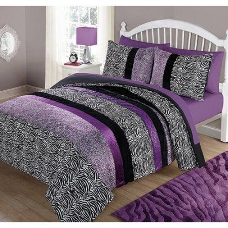 Animal Print Bedding For Kids Purple Bedding Comforter Sets