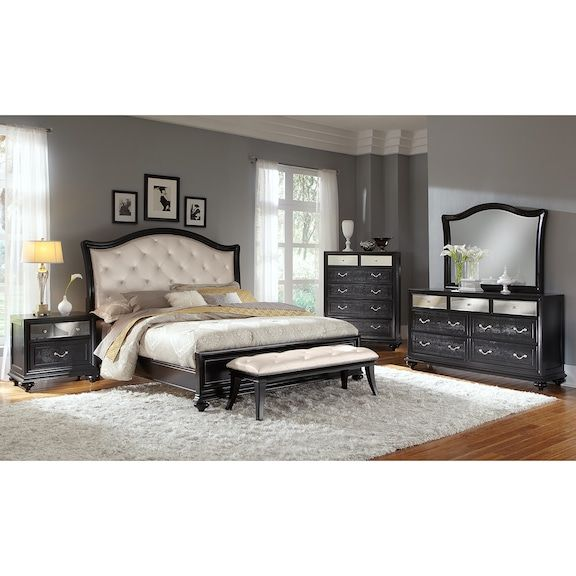 Marilyn Dresser and Mirror Ebony Value City Furniture and