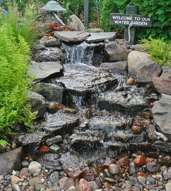 Image result for small corner yard waterfall pond ideas for Backyard pond maintenance